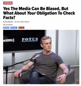 Dan Abrams calls for the public to fact check their stories