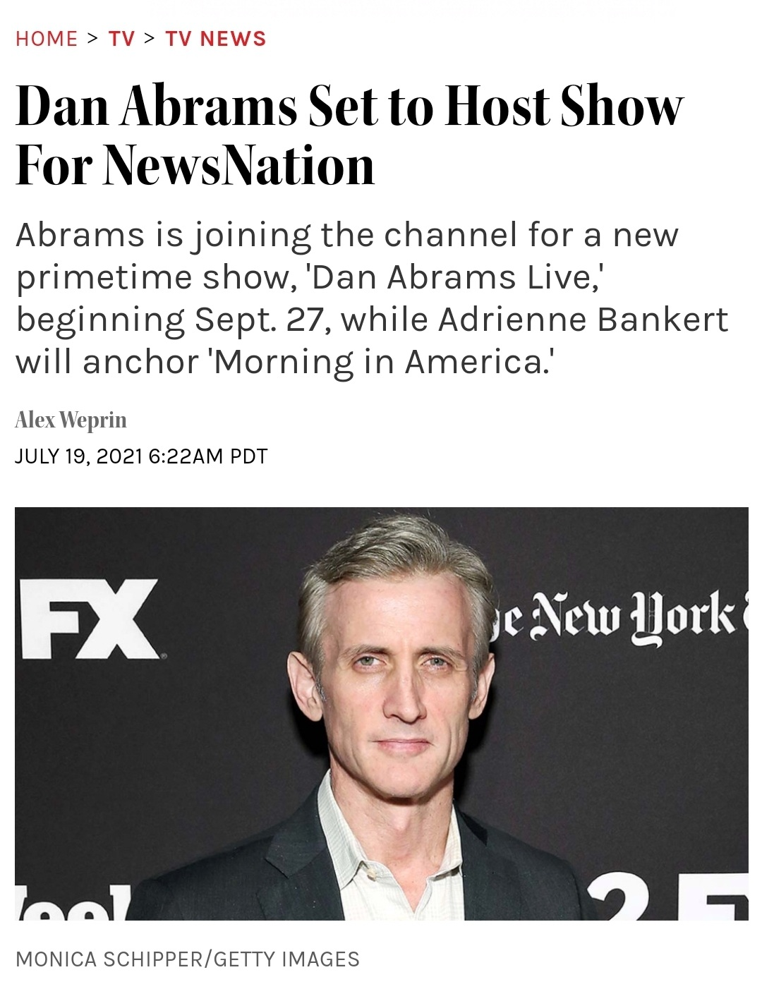 Dan Abrams Set to Host Nightly News Show on NewsNation
